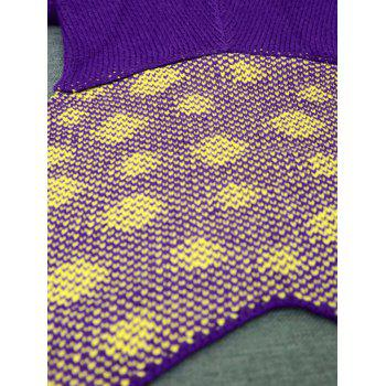 Comfortable Kintted Cartoon Mermaid Tail Blanket For Kids - PURPLE
