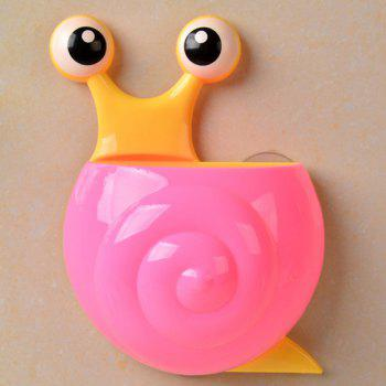 Household Cartoon Snail Wall Sucker Novelty Storage Box - PINK PINK