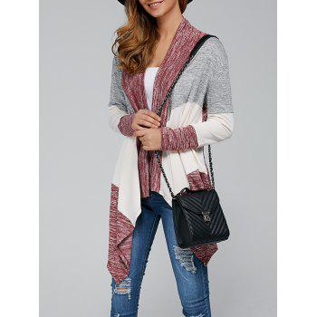 Open Front Irregular Hem Cardigan