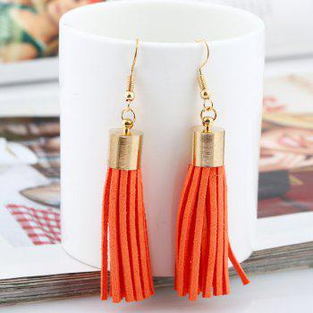 Artificial Leather Velvet Tassel Earrings