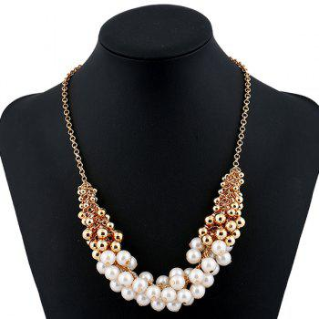 Fake Pearl Beaded Necklace