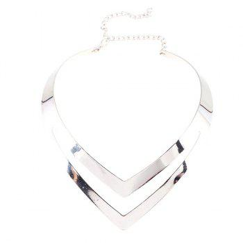 V Shape Alloy Necklace - SILVER