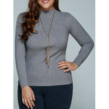 Plus Size Ribbed Fitted Knitwear