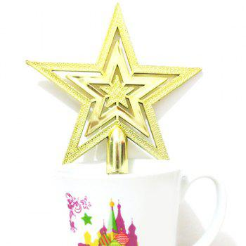 2PCS Christmas Tree Stars Party Supplies Decoration -  GOLDEN