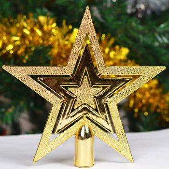 2PCS Christmas Tree Stars Party Supplies Decoration - GOLDEN GOLDEN