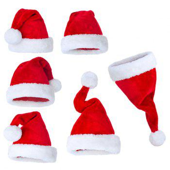 Christmas Plush Santa Claus Hat Party Supplies Decoration -  RED