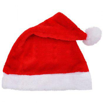 Christmas Plush Santa Claus Hat Party Supplies Decoration - RED RED