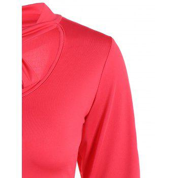 Tie Neck T-Shirt - RED RED