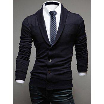 Long Sleeve Shawl Collar Button Up Cardigan