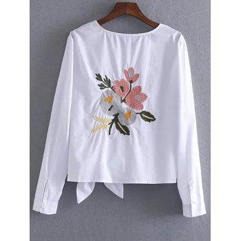 Embroidered Bowknot T-Shirt