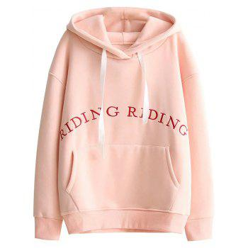 Embroidered Pocket Loose Hoodie