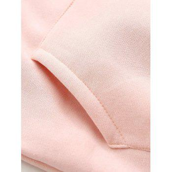 Embroidered Pocket Loose Hoodie - S S
