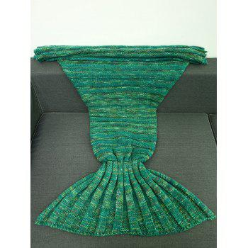 Bonne Qualité chaud kintted Wrap Mermaid Tail Blanket For Kids - Vert M
