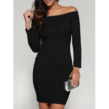 Off The Shoulder Bodycon Dress with Long Sleeves