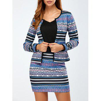 Printed Jacket and Mini Skirt - COLORMIX S