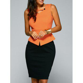 Sleeveless Peplum Work Dress