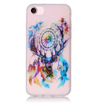 Silicon Deer Bells Night Luminous Phone Back Cover For iPhone 7 - TRANSPARENT TRANSPARENT