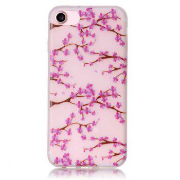 TPU Flower Night Luminous Phone Back Cover For iPhone 7 - TRANSPARENT TRANSPARENT