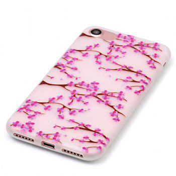 TPU Flower Night Luminous Phone Back Cover For iPhone 7 -  TRANSPARENT