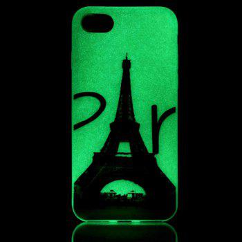Soft TPU Silicon Night Luminous Phone Cover Protection For iPhone 7 -  TRANSPARENT