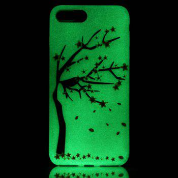 Soft TPU Night Luminous Phone Back Cover For iPhone 7 Plus -  TRANSPARENT