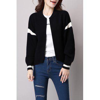 Knitted Open Front Bomber Jacket