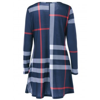 Fit and Flare Plaid Dress - CHECKED XL