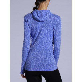 Heathered Dry-Quick Drawstring Hoodie - Pourpre M