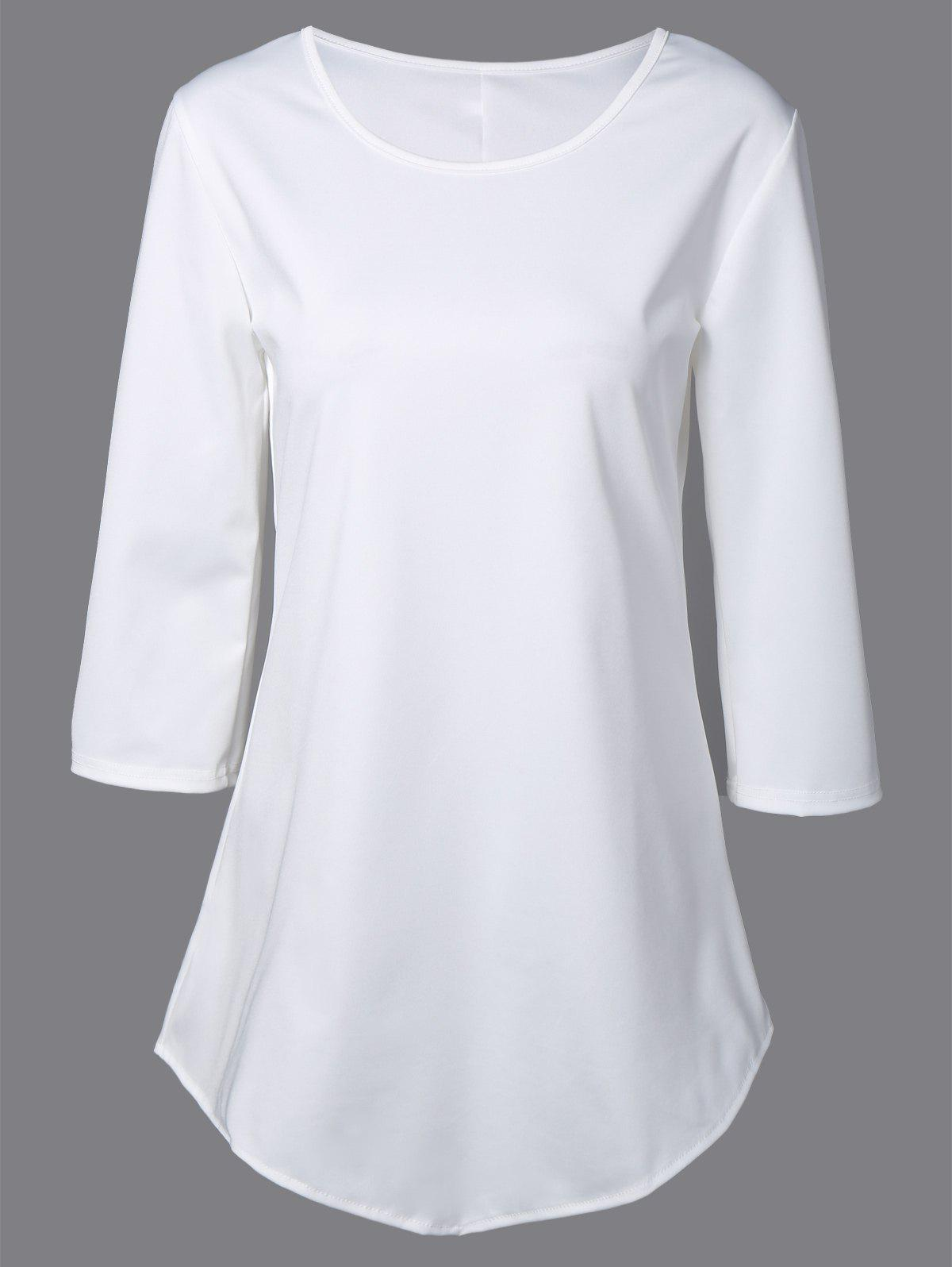 Asymmetrical T Shirt - WHITE S