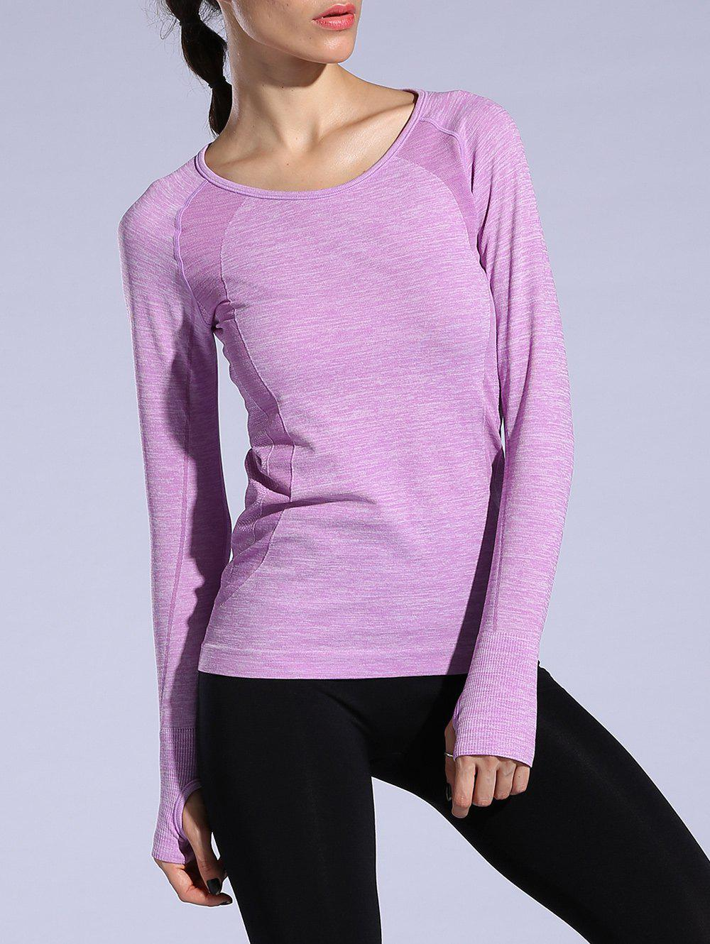 T-shirt sportif Heathered Dry-rapide - Violet Clair M