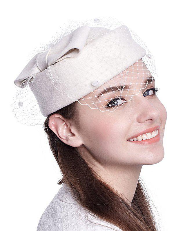 Winter Bowknot Veil Felt Pillbox Hat шапочка для плавания mining the philippines 2014