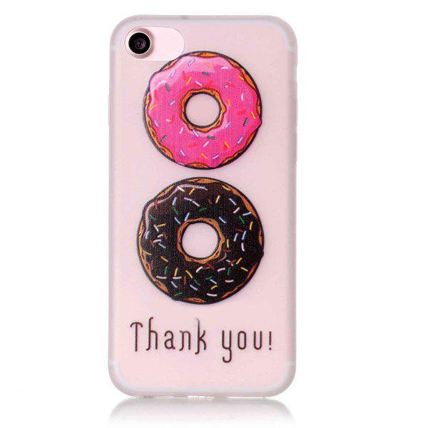 For iPhone 7 Doughnut Pattern TPU Night Noctilucent Phone Case - TRANSPARENT