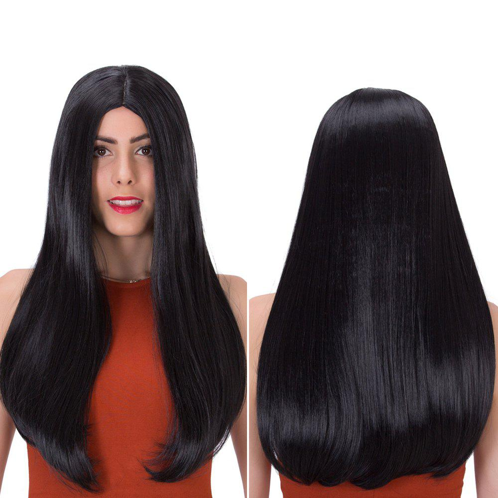 Stunning Long Middle Part Tail Adduction Synthetic Wig