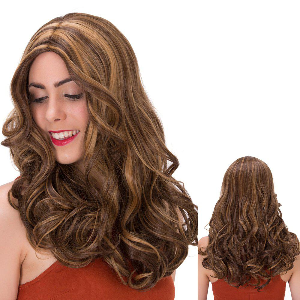 Long Centre Parting Wavy Double Color Synthetic Wig centre speaker