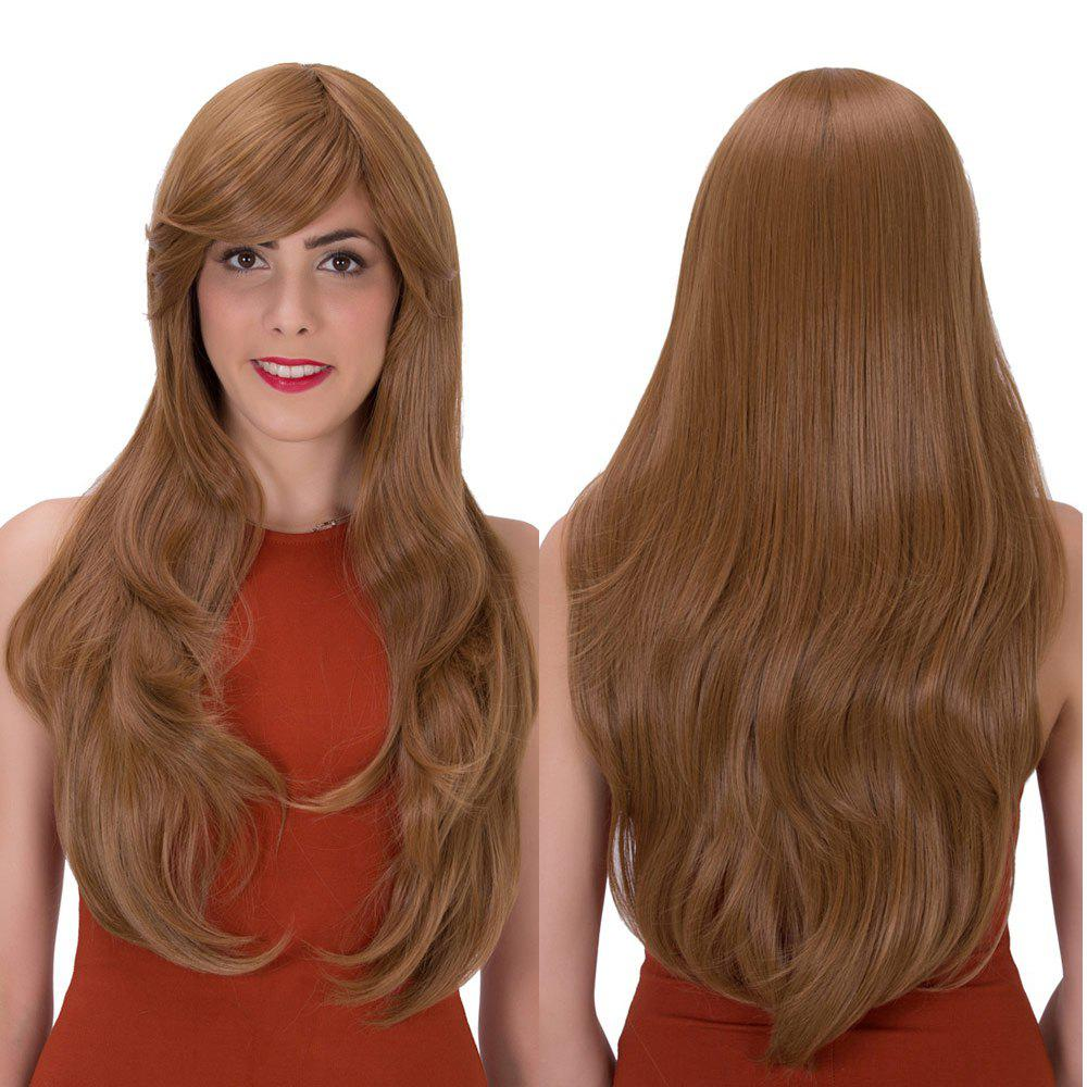 Stunning Long Side Bang Layered Tail Adduction Synthetic WigHair<br><br><br>Color: GOLD BROWN