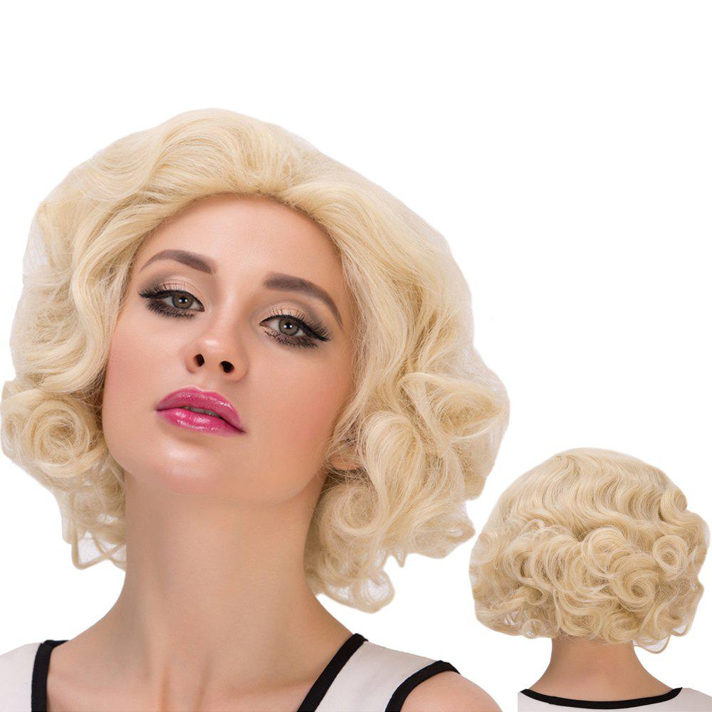 Cosplay Synthetic Short Sparkling Curly WigHair<br><br><br>Color: LIGHT GOLD