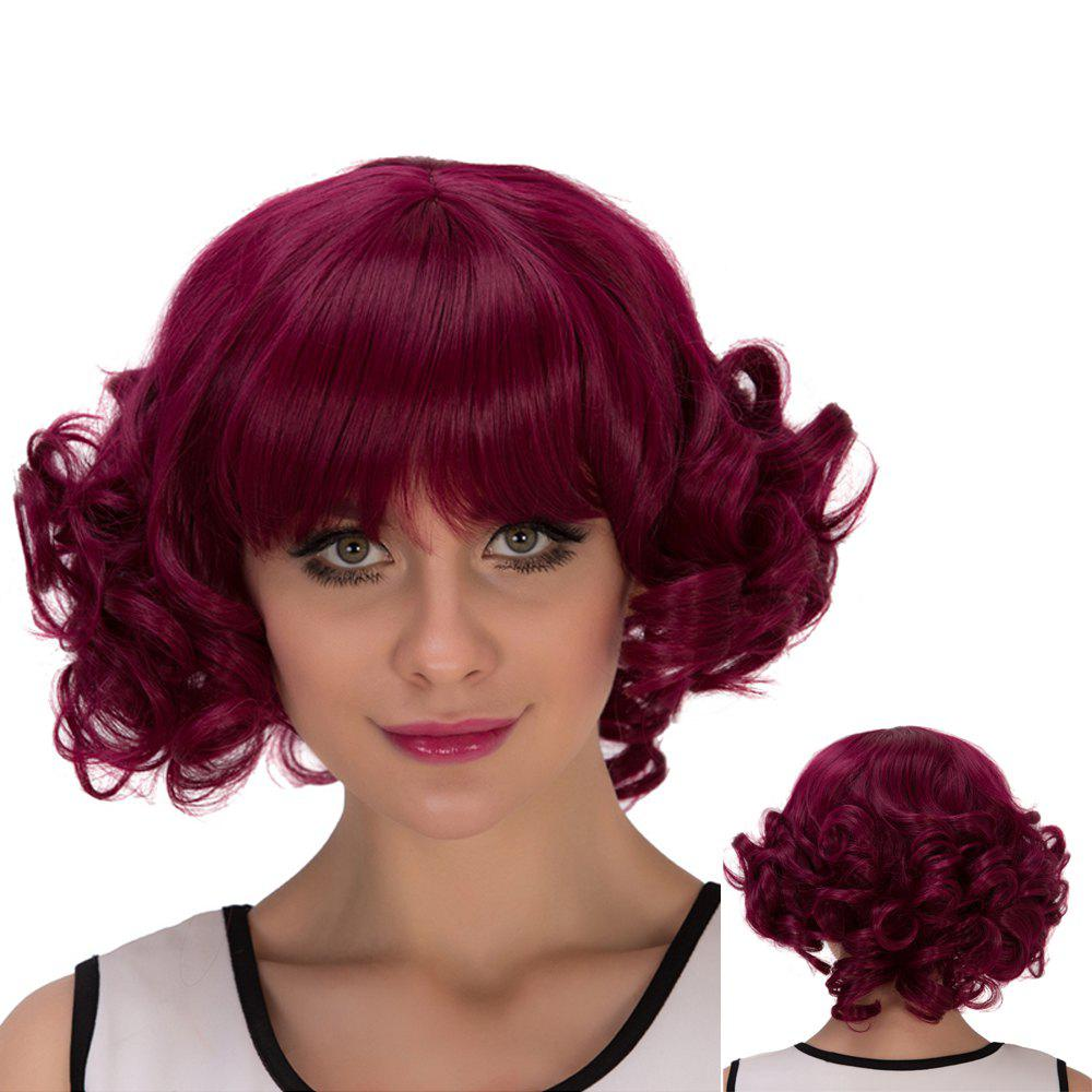 Cosplay Synthetic Short Full Bang Curly Wig cute sexy cosplay wig full bangs curly
