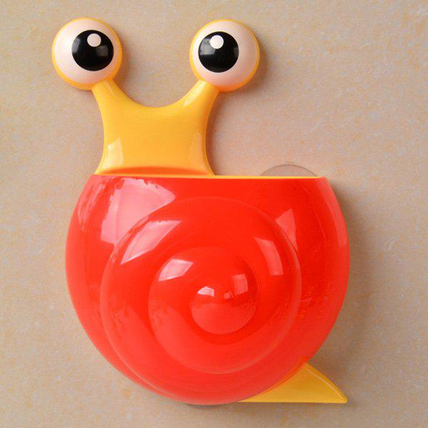 Household Cartoon Snail Wall Sucker Novelty Storage Box - RED