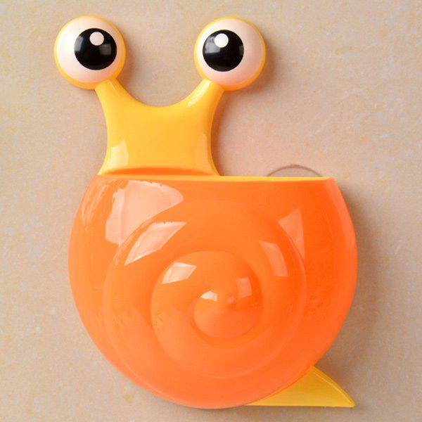 Household Cartoon Snail Wall Sucker Novelty Storage Box - ORANGE