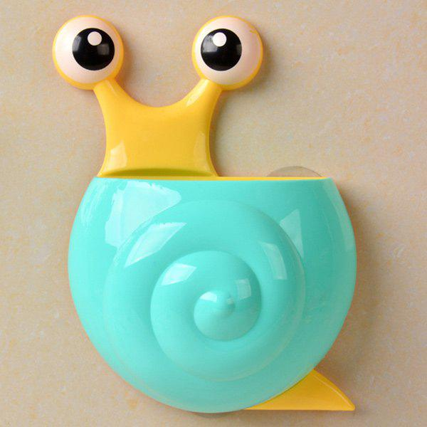 Household Cartoon Snail Wall Sucker Novelty Storage Box - BLUE