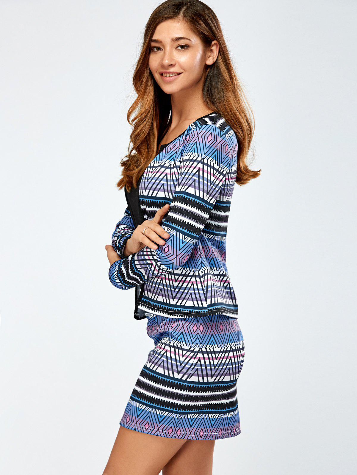 Printed Jacket and Mini Skirt - COLORMIX L