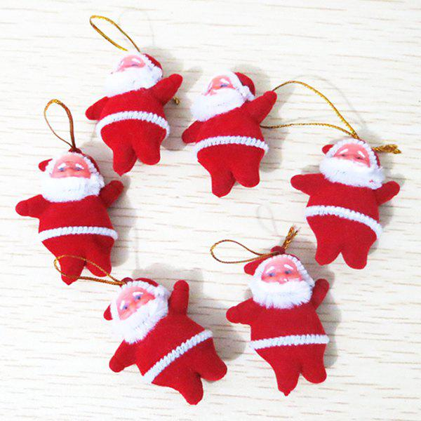 6PCS Christmas Santa Hanging Party Supplies Decoration - WHITE