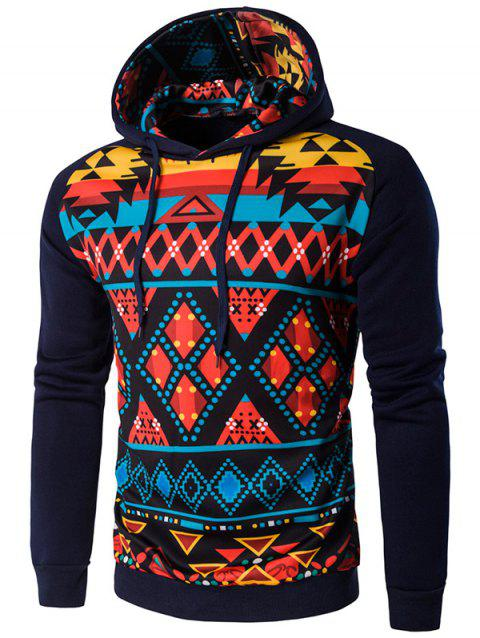 Geometric Sweatshirt à capuche Cartoon - Cadetblue L