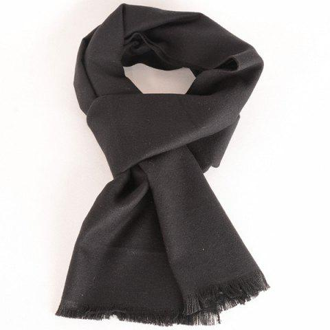 Bord Bordée Fleece Scarf - Noir