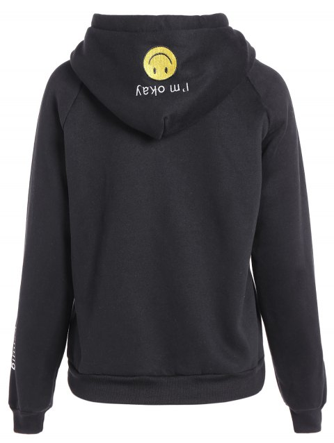 Brodé Thickening Hoodie - Noir ONE SIZE