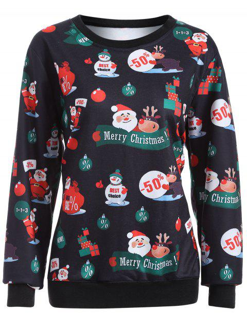 Merry Christmas Pullover Sweatshirt - BLACK L