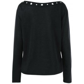 Neck Boat T-shirt - Noir M