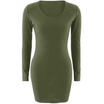 Short Slimming T-Shirt Dress With Long Sleeves
