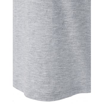 T-shirt Tribal Print Sleeve - Gris Clair L