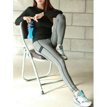 Long Sleeve Fitting T-Shirt and Sports Stretchy Pants